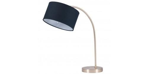Brass Arc Table Lamp & Black Shade