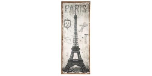 Paris Design Oblong Wall Canvas