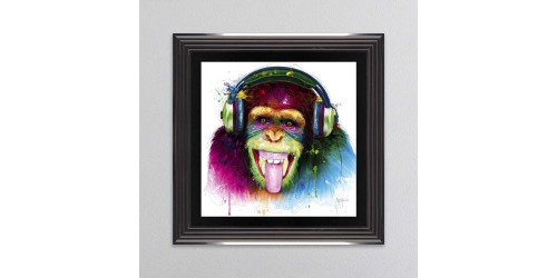 DJ Monkey Framed Wall Art 55x55cm
