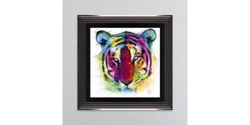 Tiger Framed Wall Art 55x55cm