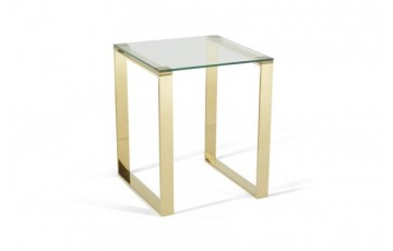 Kai Glass Lamp Table - Gold