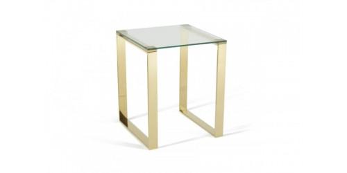 Kai Glass Lamp Table - Gold