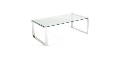 Kai Glass Coffee Table - Steel