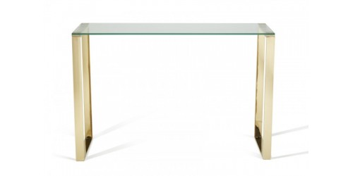 Kai Glass Console Table - Gold