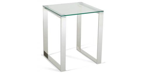 Kai Glass Lamp Table - Steel