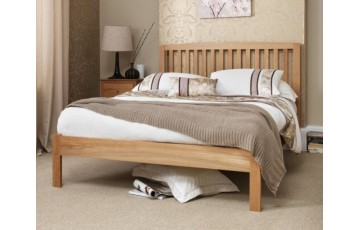 Toulouse 6ft Solid Oak Bed Frame