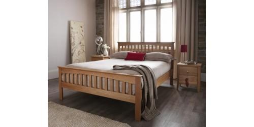 Wessex Solid Oak High Foot End 4ft6 Bed Frame