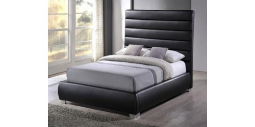 Columbus 4ft Faux Leather Bed Frame - Next Day Delivery