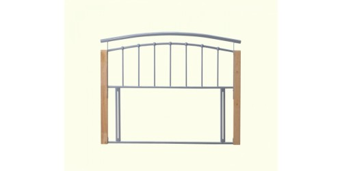 Toulouse 4ft6 Silver Metal Headboard - Next Day Delivery