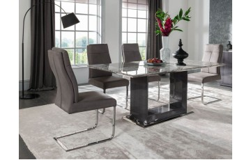 Dello Marble Dining Set (4 Chairs)