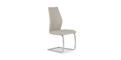 Eton Faux Leather Dining Chair in Taupe