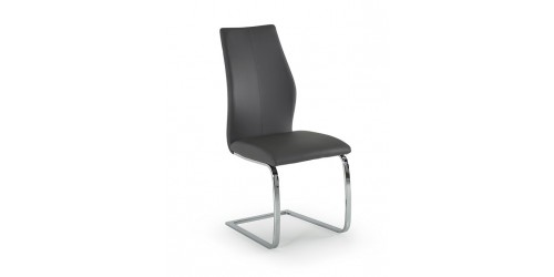 Eton Faux Leather Dining Chair in Grey