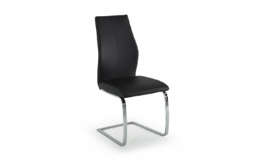 Eton Faux Leather Dining Chair in Black