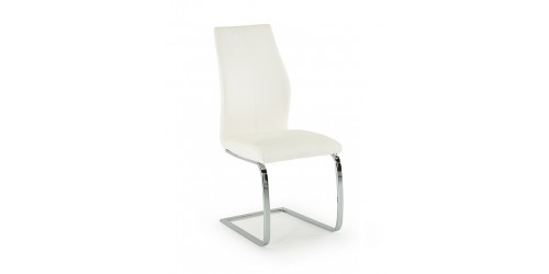 Eton Faux Leather Dining Chair in White