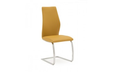 Eton Faux Leather Dining Chair in Pumpkin