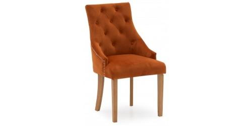 Harry Yellow Velvet Dining Chair