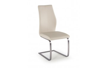 Issy Faux Leather Dining Chair in Taupe