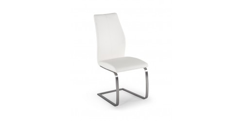 Issy Faux Leather Dining Chair in White