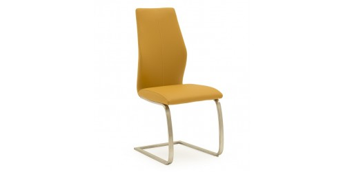 Issy Faux Leather Dining Chair in Pumpkin