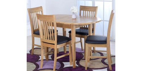 Claire Solid Hardwood Dining Set (4 Chairs)