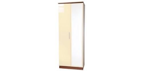 Kingston Tall 2 Door Mirrored Wardrobe