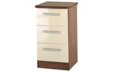 Kingston 3 Drawer Bedside Cabinet