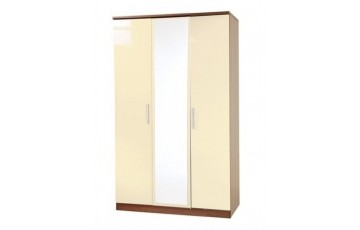 Kingston 3 Door Mirrored Wardrobe