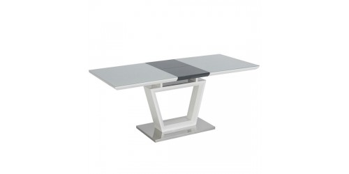 Ava Gloss White Extending Dining Table