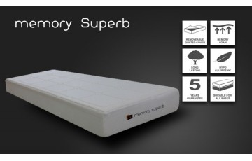 4ft6 Double Memory Superb Memory Foam Mattress